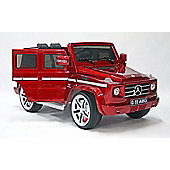 Kids Electric Car Mercedes Benz G55 12 Volt Red Gloss