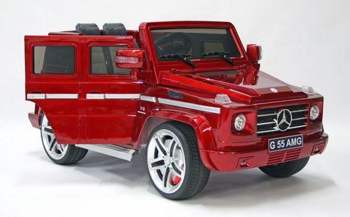 Buy kids electric car mercedes benz g55 12 volt red gloss for Mercedes benz kids 12 volt electric car