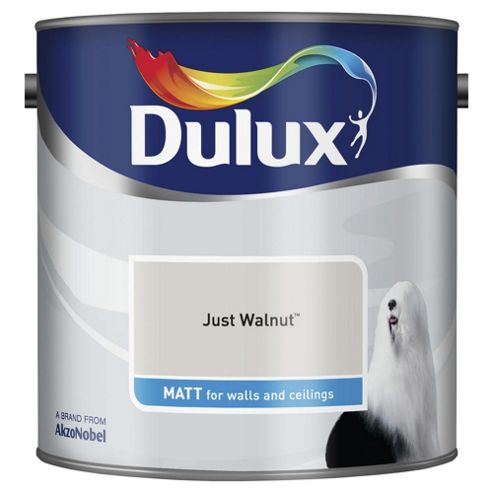 Dulux Matt Emulsion Paint, Just Walnut, 2.5L