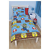 Nintendo Brothers Single Bed Duvet Cover Set