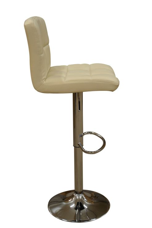 Cuban Coffee Faux Leather Swivel Bar Stool