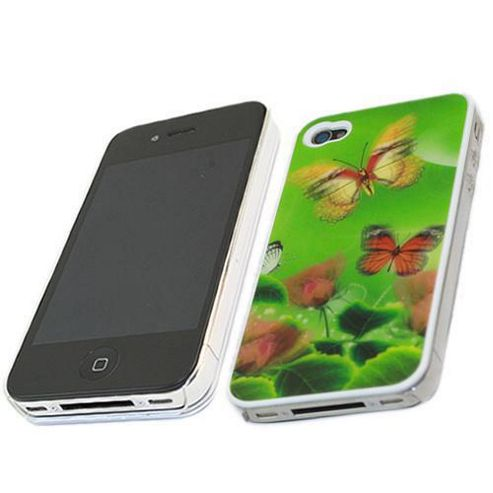 iTALKonline 3D Rose ButterFly Protection Case - For Apple iPhone 4
