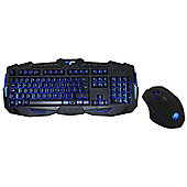 Game Max Gamer Illuminated Gaming Keyboard & Mouse 3 Colour Led
