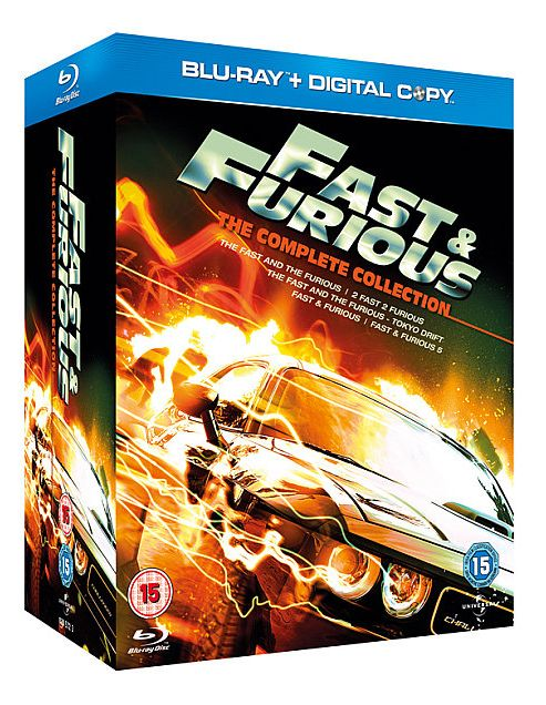 The Fast And Furious 1-5 (Blu-Ray Boxset)