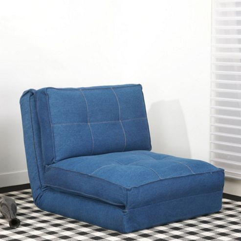 Leader Lifestyle Leveson Denim Fabric Chair Bed