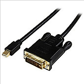 StarTech.com 3 ft Mini DisplayPort to DVI Active Adapter Converter Cable - mDP to DVI 2560x1600 - Black