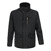 Trespass Mens Argyle Padded Quilted Jacket - Black