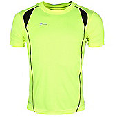 Precision Training Short Sleeved Mens Crew Neck Running Top - Yellow