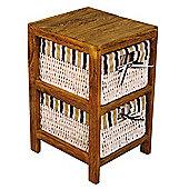 Hansen Rattan Shelf Unit - Dark Wood