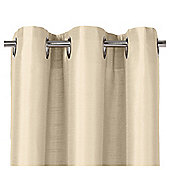 "Tesco Faux Silk Lined Eyelet Curtains W112xL137cm (44x54""), Ivory"