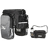 M-Wave Expandable Rack Bag in Black/Grey