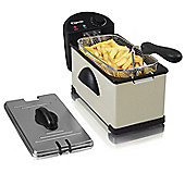 Elgento E17001C 3 Litre Stainless Steel Fryer, 2000W, Cream
