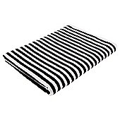 Tesco Black & White Stripe Bath Sheet