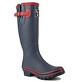 Evercreatures Ladies Wellies Raspnavy Red Trimming 7