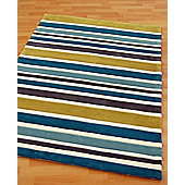 Origin Red Rainbow Teal Rug - Runner 230cm x 80cm