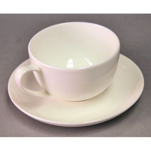 Sabichi ICE Bone China Cup and Saucer in White