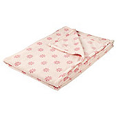 Daisy Printed Throw Pink