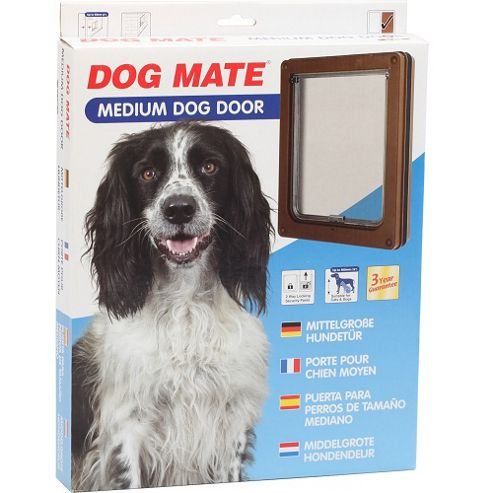 Pet Mate Dog Door Brown 215B Medium