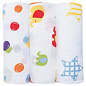Bubble Wrap Muslin Squares Pack of 3, Hey Bright Eyes
