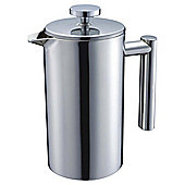 Tesco Double Walled Stainless Steel 8 Cup Cafetiere