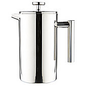 Tesco 8 Cup Cafetiere Double Walled, Stainless Steel