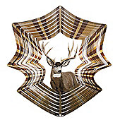 Iron Stop Designer Deer Stag Wind Spinner 10in