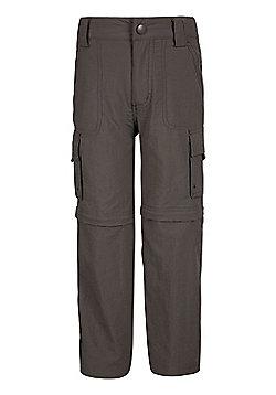 Mountain Warehouse Steve Backshall Kids Trekker Convertible Trousers - Green