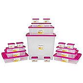Wham Plastic Storage Box Bundle - 90L - 14 Pack