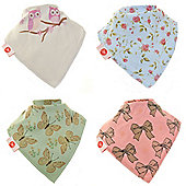Zippy Girls Vintage Bandana Dribble Bibs, 4 pack, one size