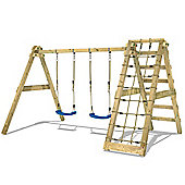Wickey SkyNet 240 Wooden swing set with climbing net