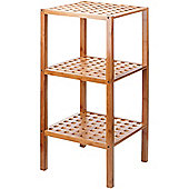 VonHaus 3-Tier Bamboo Lattice Shelves