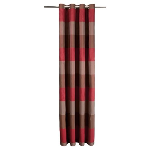 Tesco Stripe Taffetta Lined Eyelet Curtains W163xL229cm (64x90