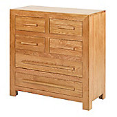 Rubix Solid Oak 4 Over 2 Chest of Drawers