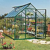 8 x 6 Green Aluminium Greenhouse