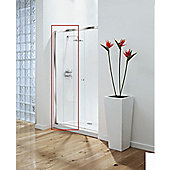 Coram Showers 140cm Optima Sliding Door - Frame Pack - Chrome - Plain - 140cm