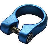 Acor Bolt Seat Post Clamp: 28.6mm Blue.