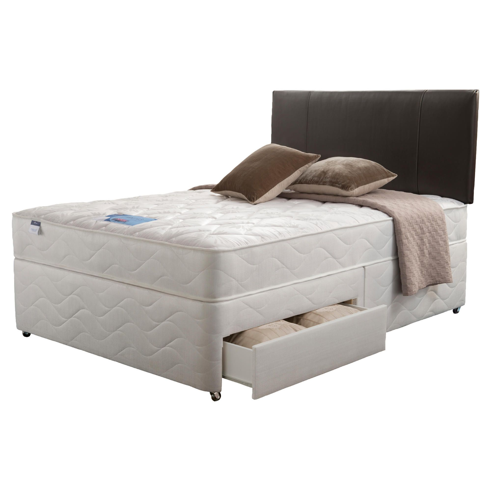 Silentnight Miracoil Kingston King 4 Drawer Divan set at Tesco Direct