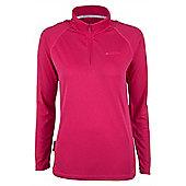 Hiker Womens Long Sleeve Baselayer Zip Top - Pink