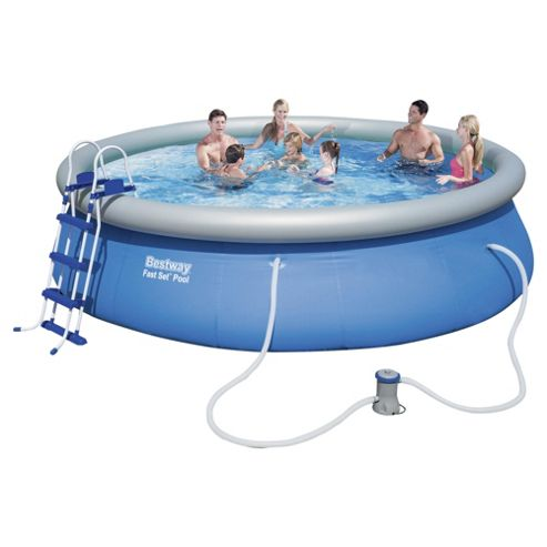 Buy 15ft bestway fast set pool from our pools paddling for Garden pool tesco