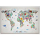 Where In the World Map Canvas