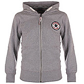 Converse Chuck Patch Core Kids Full Zip Hoodie Hoody Jacket - Grey