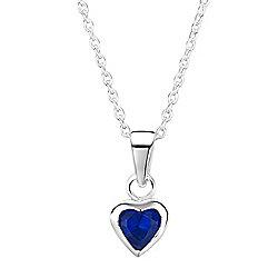 Jo For Girls Sapphire CZ Heart Pendant