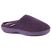 Totes Ladies Popcorn Pillowstep Plum Mule Slippers