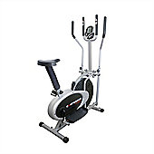 Confidence Fitness Pro 2-In-1 Elliptical Cross Trainer & Exercise Bike