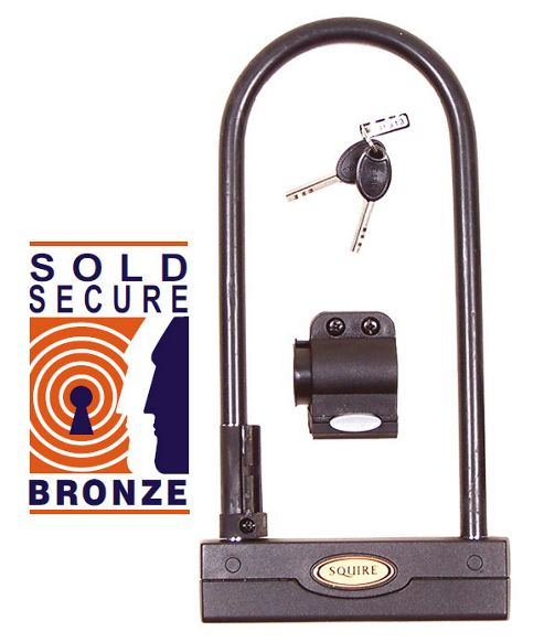 Squire Challenger D 260mm Shackle Lock