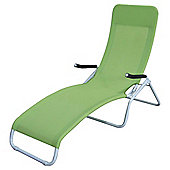 Curve Steel Sun Lounger, Green
