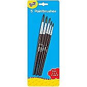 Young Art - 5 Paintbrushes - Sizes 4,6,8,10 and 12 - Galt