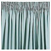 Tesco Plain Canvas Unlined Pencil Pleat Curtains - Eau de nil