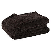 Teddy Fur Throw, Chocolate