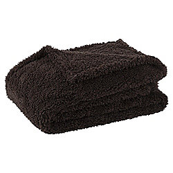 Teddy Fur Throw, Chocolate